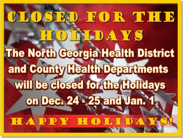 Closed for the Holidays sign web