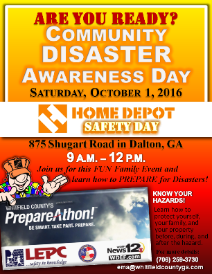 Community Disaster Awareness Day - Flyer-sm