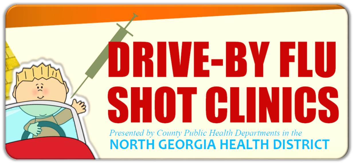 DRIVE BY Flu Shot Clinics Web Social Media Graphic
