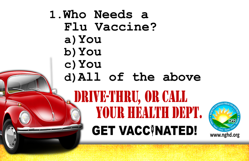 Drive Thru Flu Shot Clinics 2020 Graphic web