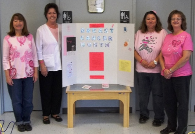 Fannin County Health Department staff wear Pink for Breast Cancer Awareness - web