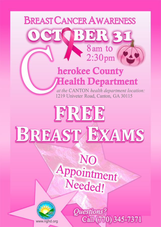 Free Breast Exams BCA Event CCHD Flyer web