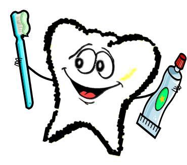 Diente feliz con cepillo de dientes 4