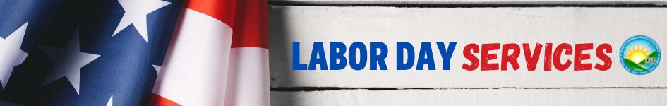 Publicación web de servicios del Día del Trabajo