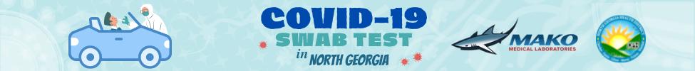 Banner web de prueba de hisopo Covid 19 de MAKO Medical
