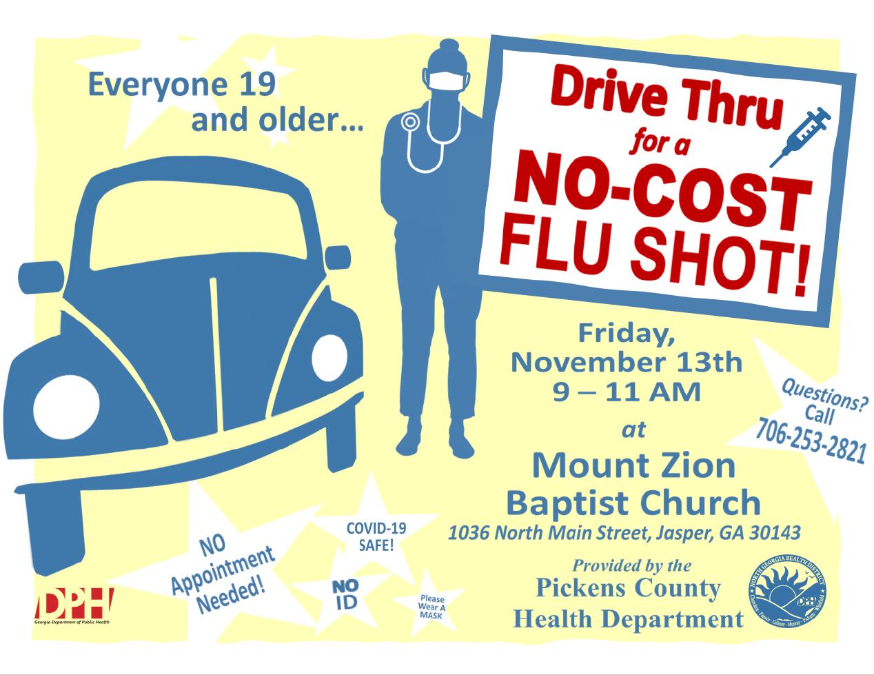 Conduzca a través de la clínica de vacunación contra la influenza en Mack Gaston Comm Ctr 11 10 20 SP