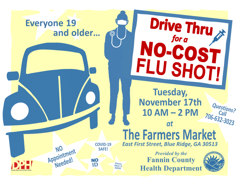 Drive Thru Flu Shot Clinic at Mack Gaston Comm Ctr 11 10 20 SP