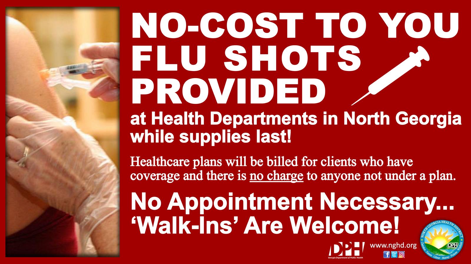 Distrito de vacuna contra la gripe sin costo Feb 2018 Flyer