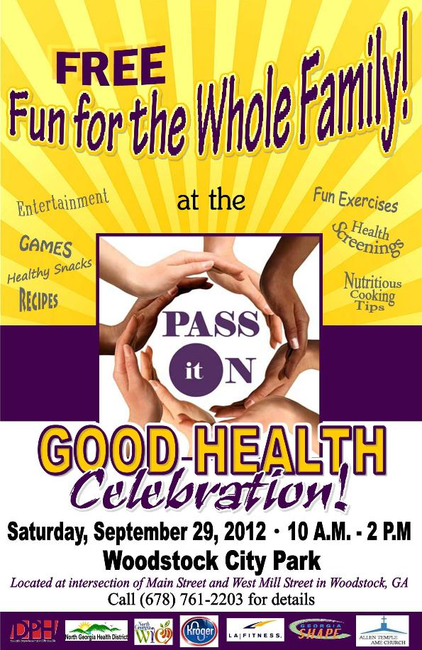 Pass It On - Good Health Poster -small