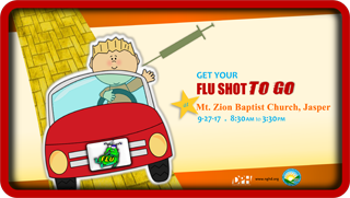Pickens Drive by Flu Shot Clinic Web Post 2017