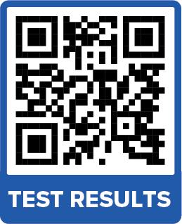 Resultados de la prueba Código QR 300