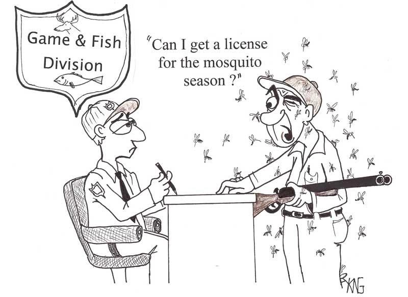 dibujos animados de mosquitos