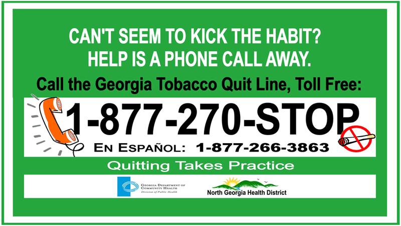 Línea para dejar de fumar de GA
